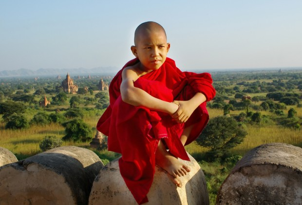 Buddhistischer Mönch in Bagan